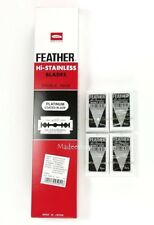 20 Pcs FEATHER MADE IN JAPAN Hi-Stainless Platinum Double Edge Razor Blades