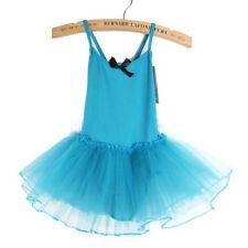 Girls Kids Ballet Skirt Dance Costume Dancewear Gymnastics Leotard Tutus Dress