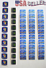 10pc WINDOWS 7, NVIDIA, Energy Star, INTEL CORE i3, i5, i7 Stickers Laptop