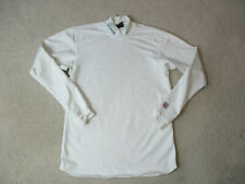 Nike Miami Dolphins Long Sleeve Shirt Adult Large White Green Football DriFit A*