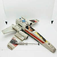 Vintage Star Wars 1978 Battle Damaged X WING FIGHTER w/ Luke Skywalker Pilot*