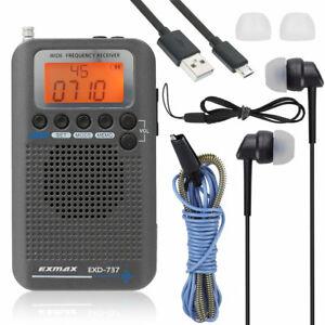 FM/AM/SW/AIR/CB/VHF Airband Portable Full Band Frequency Handheld Aircraft Radio