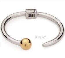 18k GOLD PLATED 2-TONE SINGLE BALL BRACELET - ABSTRACT BANGLE WITH GIFTBOX