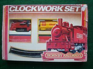 Vintage Hornby Clockwork Train Set. Boxed with Key. Used