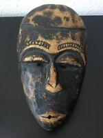 Ancien masque Africain en bois exotique probablement Dan Côte d'Ivoire XXème