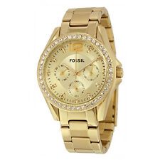 Fossil Riley Multi-Function Gold-tone Ladies Watch ES3203