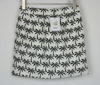 RRP€105 SUNCOO PARIS Women's 2 ~M Palm Trees Pattern Mini Pencil Skirt 6037 mm