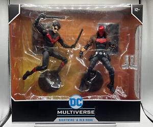 McFarlane Toys DC Multiverse Night Wing Red Hood 7 inch Action Figure NIB Stock