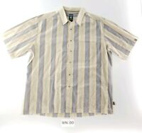 Kuhl Mens Sz XL Striped Button Down Short Sleeve Front Pocket Casual Shirt :DD