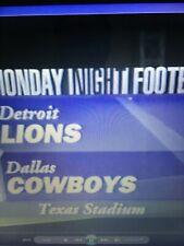 94 Detroit Lions at Dallas Cowboys dvd MNF