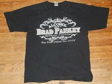 LARGE Brad Paisley Alcohol Country Tour t-shirt best times you'll never 2006
