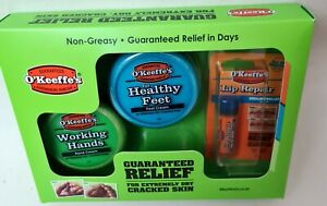 O'Keeffe's Skincare Working Hands Healthy Feet and Lip Balm Repair 3pc Gift Set