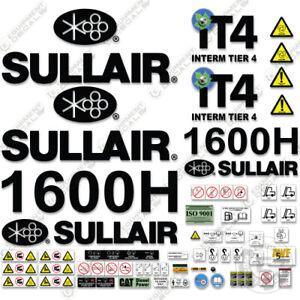 Sullair 1600H Tier 4 Decal Kit Air Compressor - 3M Vinyl