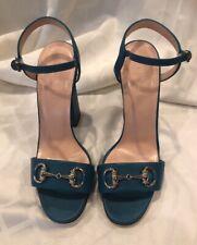 Gucci Horsebit Sandals Cobalt Blue Size 39 NIB