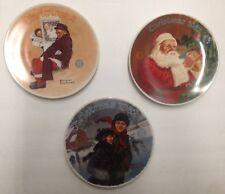 Norman Rockwell Christmas Collector plates Nib Lot of 3 plates