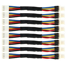 8pcs PC Fan Noise Speed Reduce 4 Pin Power Resistor Male to Female Cable Adapter