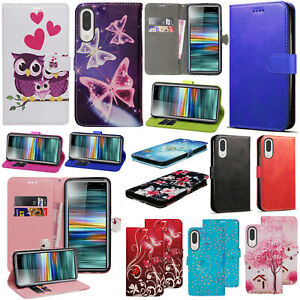 PU Leather Flip Wallet Case Cover Stand For Sony Xperia 1 II L1 L2 XA2 E5 L3 5