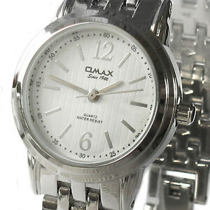 OMAX women's watch Model HSJ718 Stainless steel White dial LARGE WRIST - Quartz