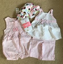 NWT Gymboree Romper, Tank Top, Shorts, Tights & Hat Set Ice Cream Social