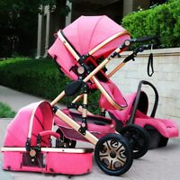 Baby Pram Buggy Stroller 3 in1 Pushchair Car Seat Carrycot Travel System Pro