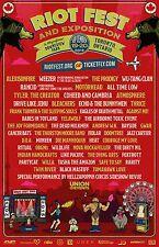 RIOT FEST 2015 TORONTO CONCERT POSTER: Alexisonfire, Weezer,Wu-Tang Clan,Prodigy