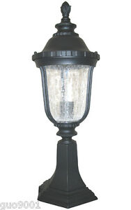 Aluminum Outdoor Exterior Lantern Lighting Fixture Pier Post Black Sconce