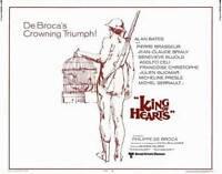 KING OF HEARTS Movie POSTER 22x28 Half Sheet Alan Bates Genevieve Bujold Adolfo