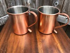 2 Brand New World Market Copper Mugs Moscow Mule Stainless Steel Cup Gift Vodka