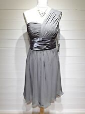 BNWT Moonar Cocktail Dress - Size 12 - Grey - One shoulder - Eveningwear -1387
