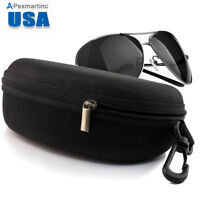 Zipper Hard Clam Shell Eyeglasses Eyewear Sunglasses Case Box Protector Outdoor
