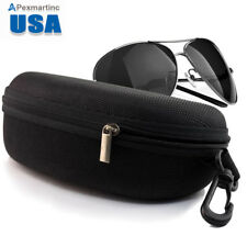 Zipper Hard Clam Shell Eyeglasses Eyewear Sunglasses Case Box Protector Outdoor