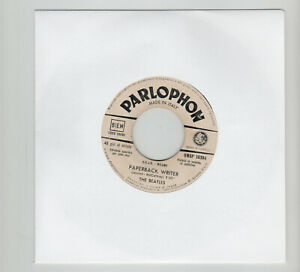 7'' BEATLES 45 giri PAPERBACK WRITER / RAIN Promo JB ITALY Parlophon
