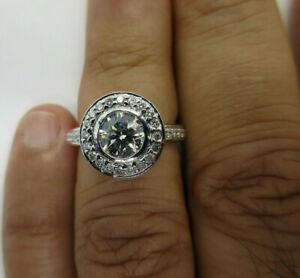 2.30 Carat Platinum Diamond Engagement Ring Center=1.20 Carat G-VS2  Value=$24K+