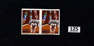// 2X MONACO 1977 - MNH - IMPERF - FLAGS - CIRCUS