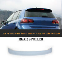 Auto Rear Roof Wing Spoiler Fit for VW Golf6 VI MK6 R20 GTI 11-13 Unpainted FRP
