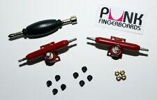 Professional Shaped Fingerboard Trucks -RED- 32mm, Single Axle+Lock Nuts USA