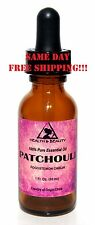 PATCHOULI ESSENTIAL OIL by H&B Oils Center AROMATHERAPY GLASS DROPPER 1 OZ 30 ml