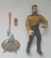 Star Trek Playmates Figure Lt Thomas Riker Gold TNG Uniform