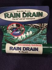 Rain Drain Downspout Extender UP to 8' Feet Fits 2x3 & 3x4 Downspouts Unrolls