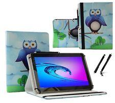 "Schutzhülle für Samsung Galaxy Tab 2 P5110 Tablet Case 10.1"" 360 Blau Eule"