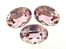 Swarovski Foiled Oval Stones Art.4120 18x13mm Crystal Antique Pink 3 Pieces cc