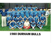 1980 DURHAM BULLS8X10 TEAM PHOTO BASEBALL SOUTH CAROLINA PERRY VEALE THOMPSON