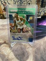 George McGinnis 2019/20 GREEN PRIZM #3/8 AUTO
