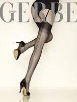 Lot de 2 paires de Bas FF 100% Nylon à Couture vintage Carnation de Gerbe