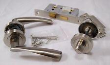 Designer Verto Door Handle Pack (Bathroom Set), SNP