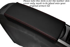RED STITCHING FITS TOYOTA PRIUS T3 05-09 LEATHER ARMREST COVER ONLY