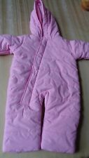 BABY BEGINNINGS - Baby Girls Months 3-6 - Bunting Snowsuit -  Pink - 3-6 MONTHS