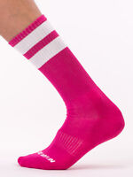 Barcode Berlin Gym Chaussettes Rose/Blanc 91366/41115 Sexy Soldes Envoi Éclair