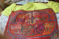 VTG Kuna Mola Folk Art Blouse, Museum Quality, Textile Art, sewing