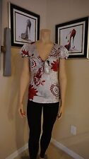 Stunner Violet & Claire New York sz S v-neck blouse with tie front